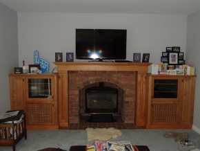 Custom Designed Fierplace Mantels and Fireplace Surrounds by Quality Cabimets - Parksville - Qualicum - Project-11