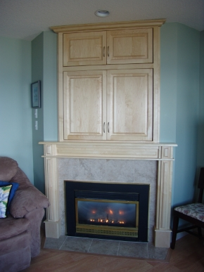 Custom Designed Fierplace Mantels and Fireplace Surrounds by Quality Cabimets - Parksville - Qualicum - Project-14
