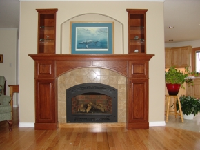 Custom Designed Fierplace Mantels and Fireplace Surrounds by Quality Cabimets - Parksville - Qualicum - Project-2b