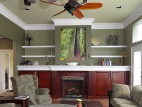 Custom Designed Fierplace Mantels and Fireplace Surrounds by Quality Cabimets - Parksville - Qualicum - Project-4