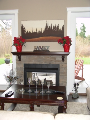 Custom Designed Fierplace Mantels and Fireplace Surrounds by Quality Cabimets - Parksville - Qualicum - Project-7