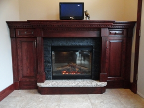 Custom Designed Fierplace Mantels and Fireplace Surrounds by Quality Cabimets - Parksville - Qualicum - Project-8