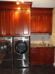 Laundry room cabinets and renovations by Hamilton Thorne Quality Cabinets - Project-1b
