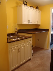 Laundry room cabinets and renovations by Hamilton Thorne Quality Cabinets - Project-4b