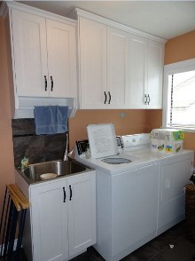 Laundry room cabinets and renovations by Hamilton Thorne Quality Cabinets - Project-7a