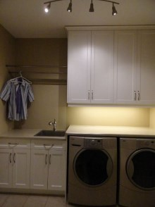 Laundry room cabinets and renovations by Hamilton Thorne Quality Cabinets - Project-8