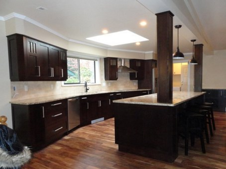 Kitchen Renovation 1 after - Quality Cabinets - Parksville - Qualicum
